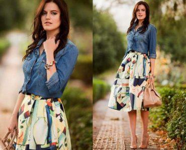 A combinação de jeans mais estampa está entre as tendências da moda evangélica 2017