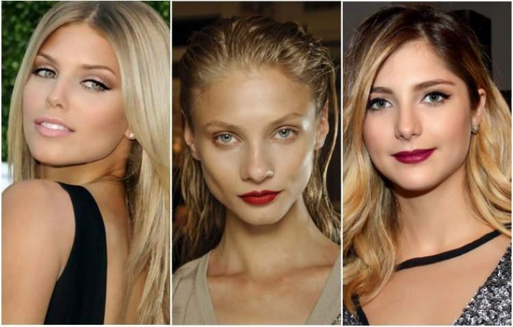 Mulheres loiras e bronzeadas