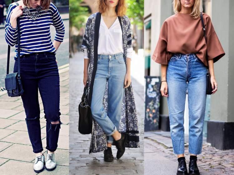 Jeans Mommy está entre as tendências da moda inverno 2017