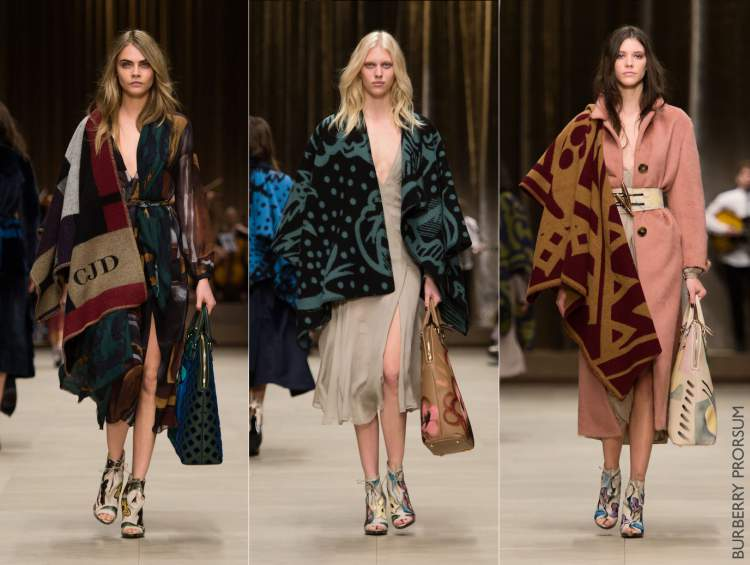 Mantas e ponchos cobertor são tendências da moda inverno 2017