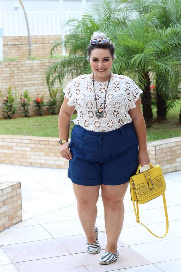 Bermuda da moda plus size 2017