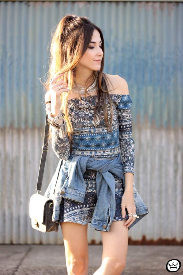 Como criar um look de passeio usando a jaqueta jeans no verão