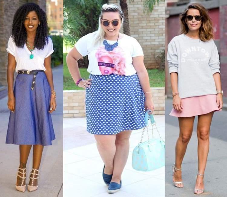 Evasê é um dos modelos de saia que toda mulher deve ter