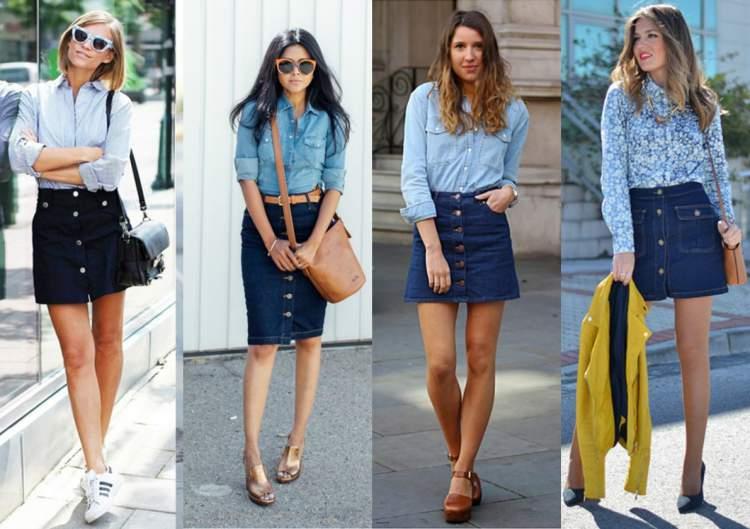 modelos de saia jeans