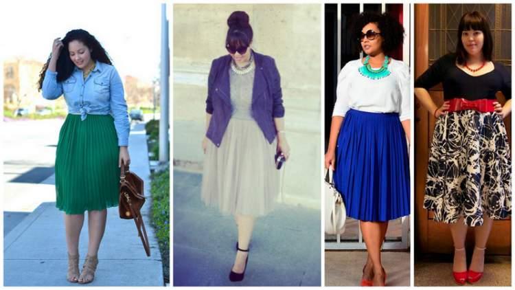 modelos de saia midi para mulheres gordinhas