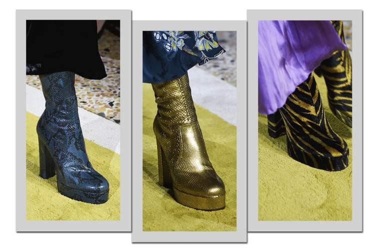 No que diz respeito aos calçados, as plataformas são tendências da moda inverno 2017