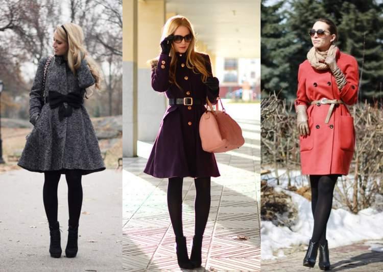 Look fashionista com sobretudo como vestido