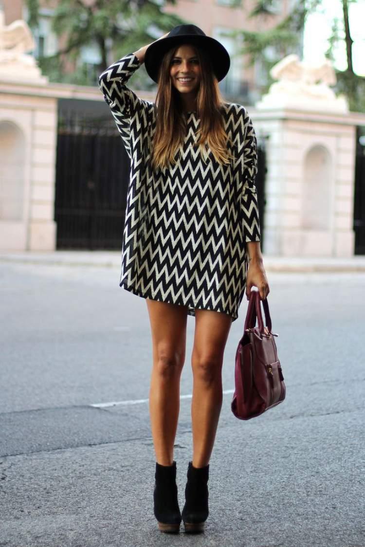 Look fashionista com vestido bata
