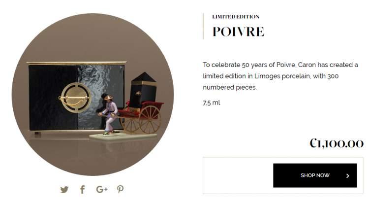 Poivre, por Caron Paris é um dos perfumes femininos mais caros do mundo