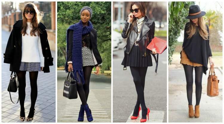 Meia calça preta cai bem em qualquer mulher
