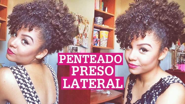 penteado preso lateral para quem tem cabelos cacheados e curtos