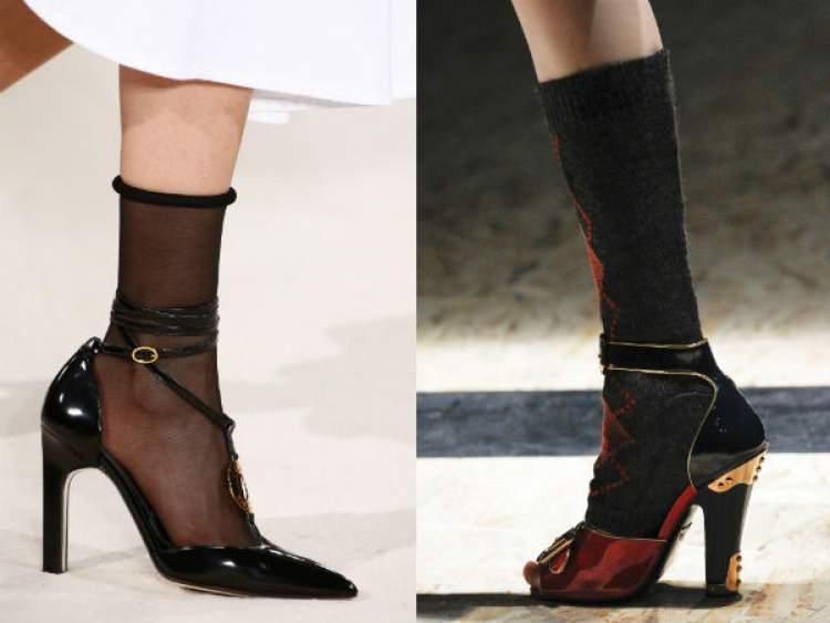 Sapato e Meia para usar no Inverno 2017