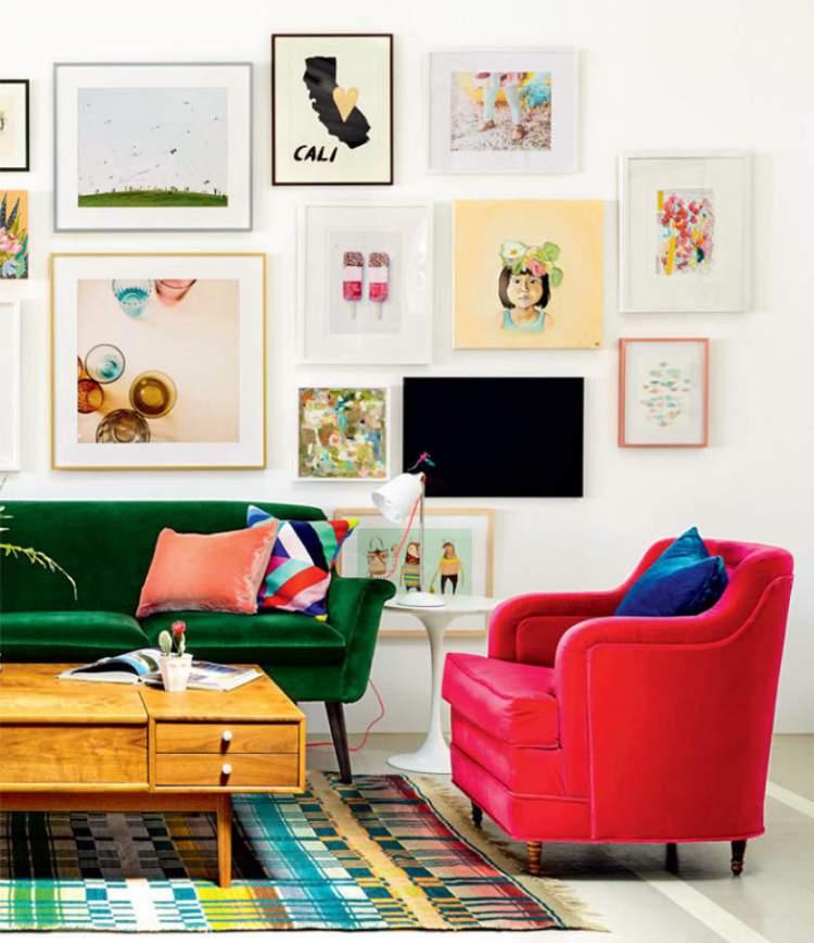 Dicas de cores para decorar a sala