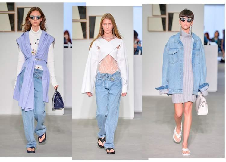 Jeans larguinho é uma tendência da moda primavera 2017