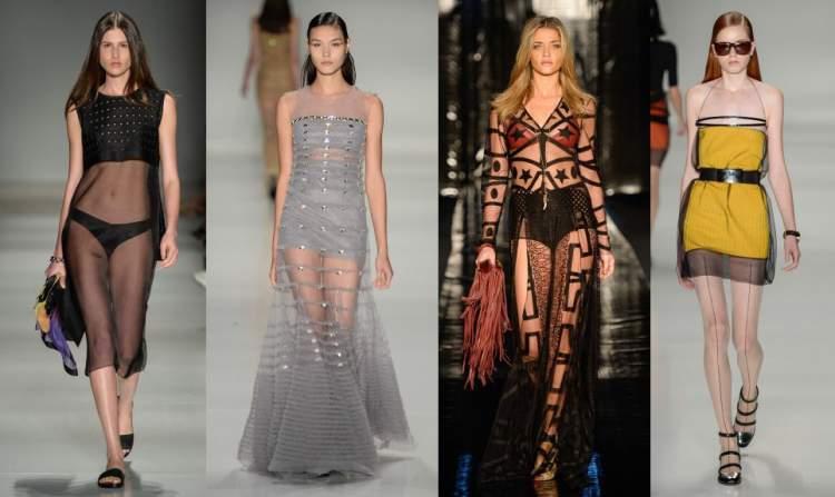 Looks com transparências são tendências da moda primavera verão 2018