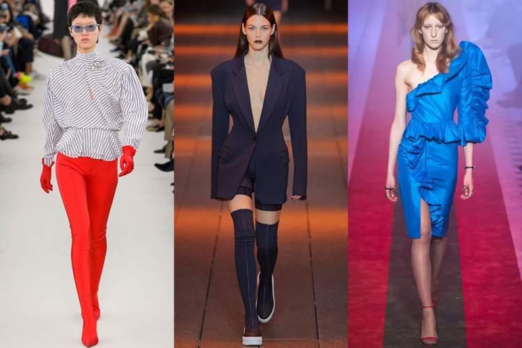 Ombros estruturados são tendências da moda primavera verão 2018