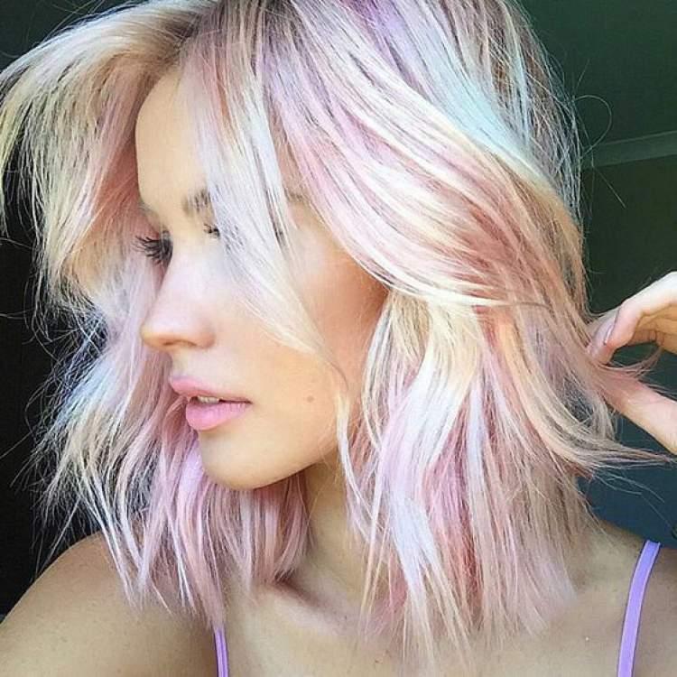 ideia de cabelo colorido para usar na primavera 2017