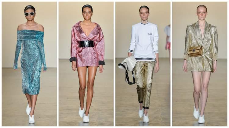 Looks metalizados são tendências da moda primavera 2017