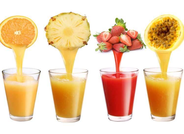 Sucos de frutas são alimentos saudáveis que aumentam a fome