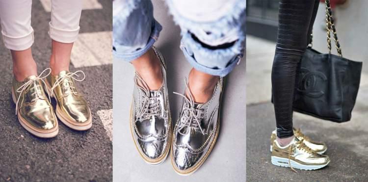 Calçados Metalizados Serão Tendência Absoluta do Inverno 2017