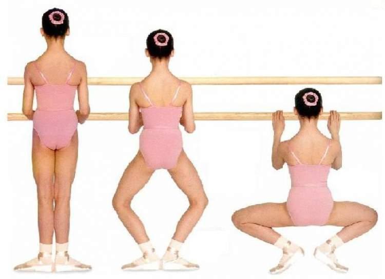 Plié ballet para levantar o bumbum após a gravidez