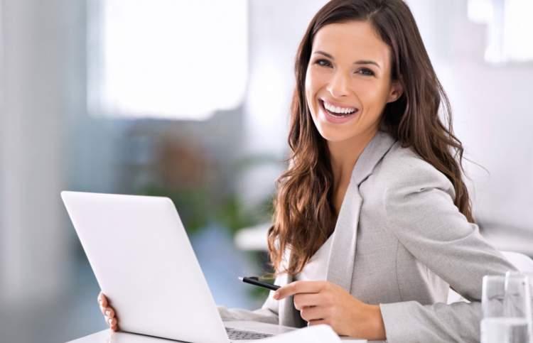 as mulheres bem sucedidas sorriem