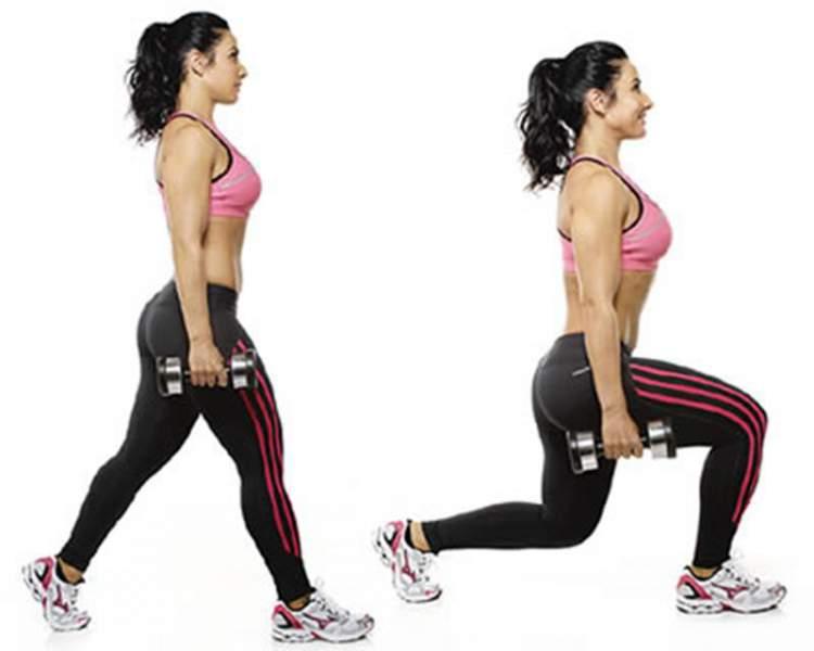 Um dos exercícios que mais engrossam pernas e coxas é o avanço