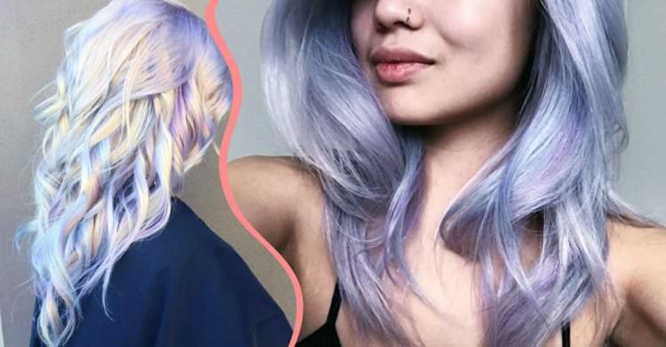 Foto de cabelo holográfico