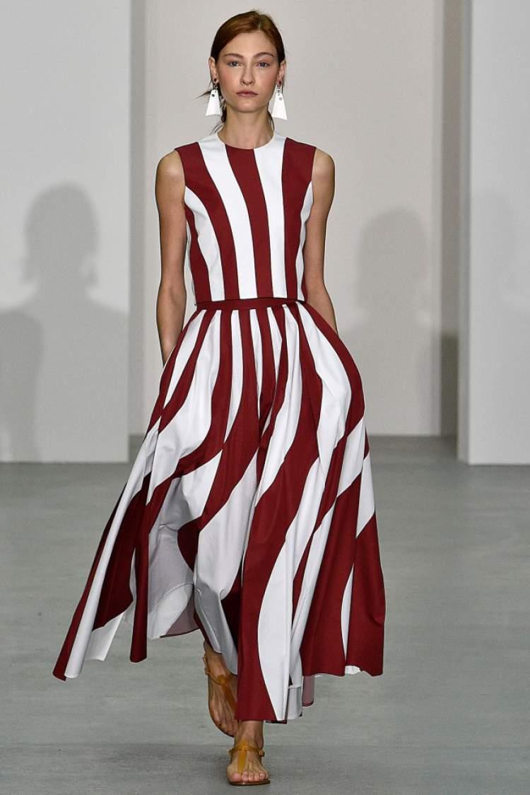 Listras são tendências da moda 2018