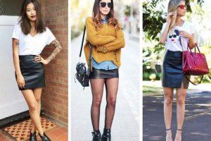6 maneiras de usar a saia de couro e arrasar no look 1