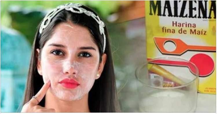 Aprenda fazer a máscara facial de maisena com efeito botox e que controla a oleosidade