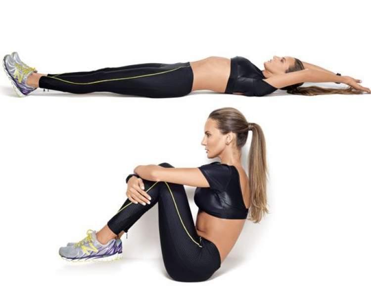 Pratique o exercício remador para obter a barriga chapada