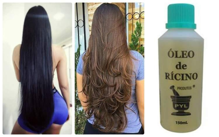 Receita caseira com óleo de rícino para fazer o cabelo crescer rápido e encorpado