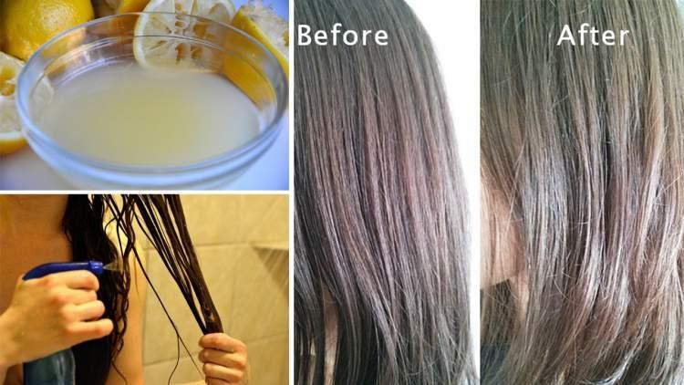 receita caseira de limão para clarear o cabelo sem química