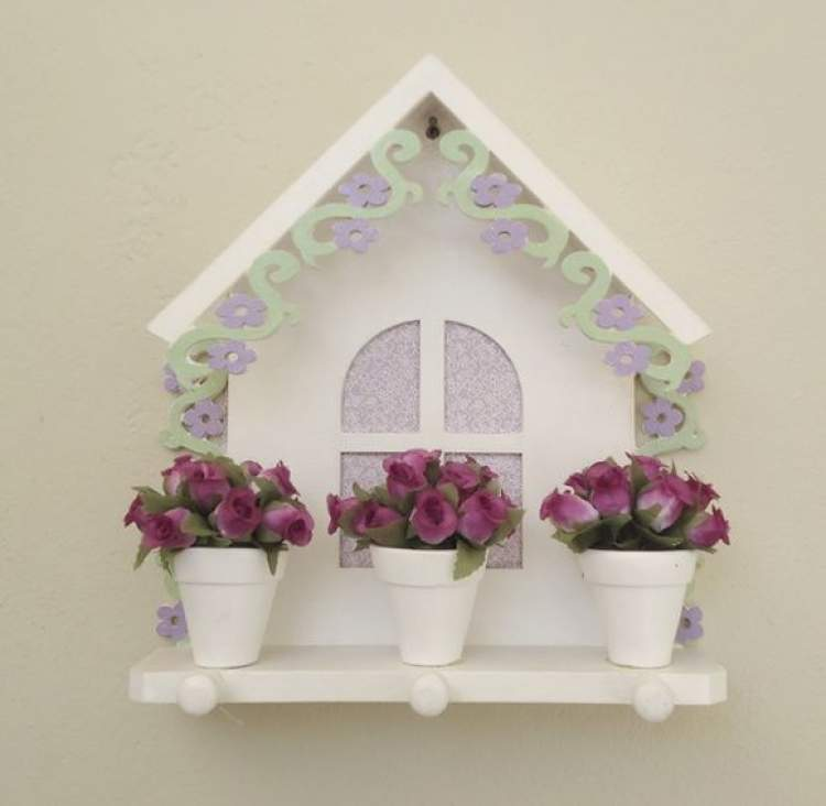 Flores no porta-chaves
