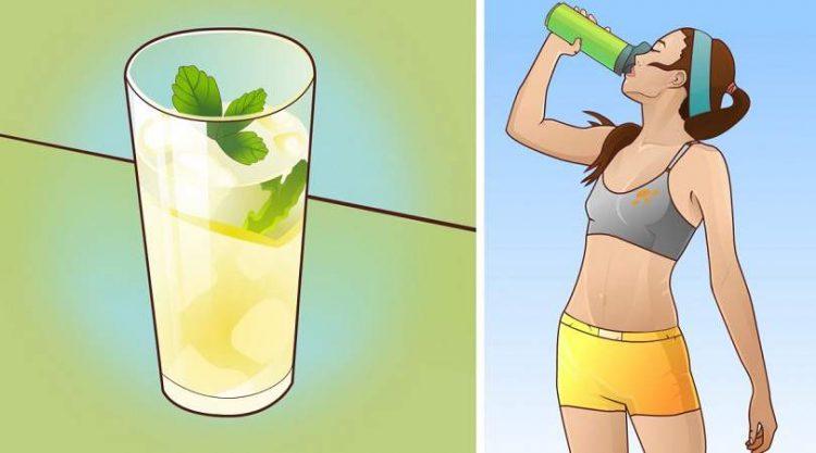 Perca até 8 quilos bebendo água gelada com limão