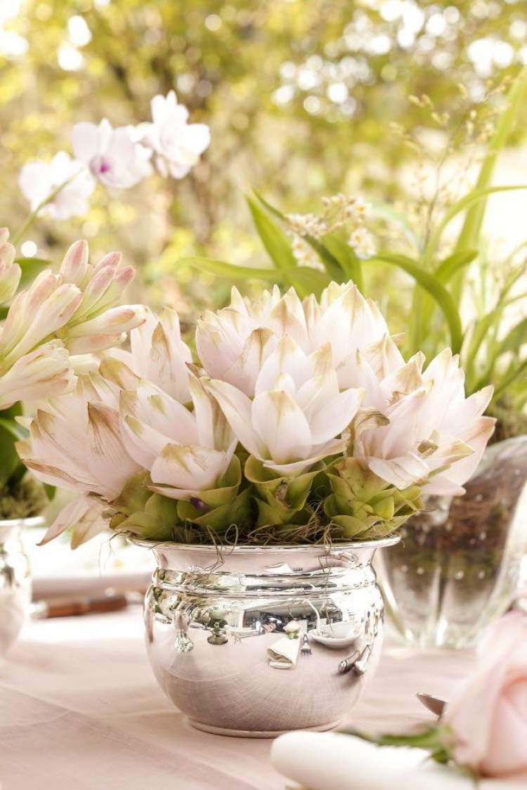 Tigelas de cozinha para colocar flores