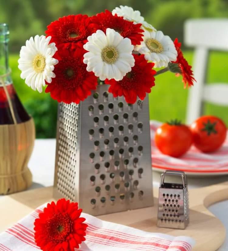 Maneira criativa de decorar uma casa com flores