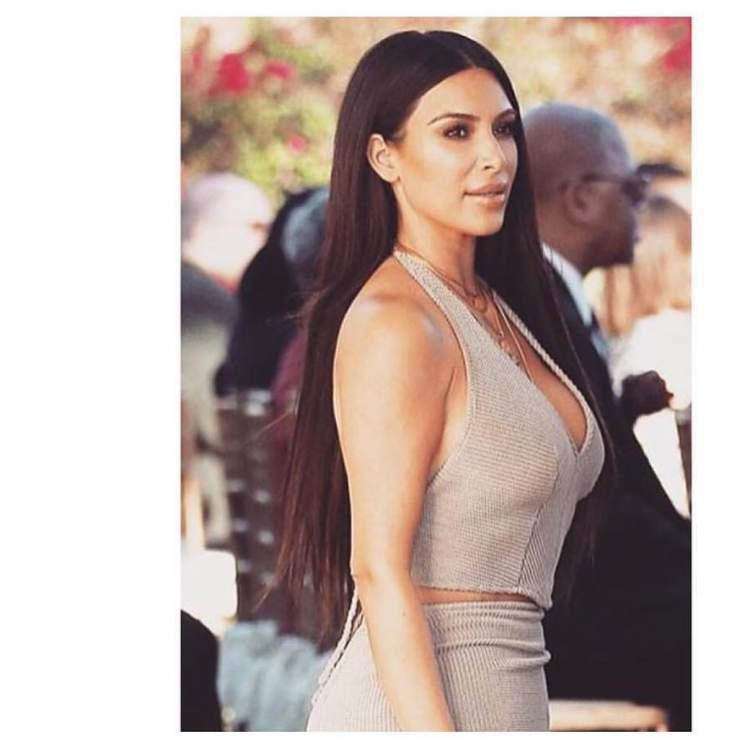 Kim Kardashian usa óleo protetor térmico nos cabelos