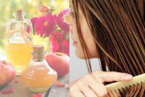 Selagem capilar com vinagre de maça: cabelo com mais brilho e menos volume