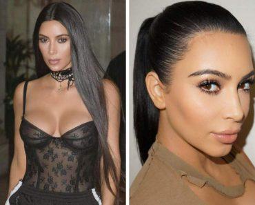O cabelo de Kim Kardashian