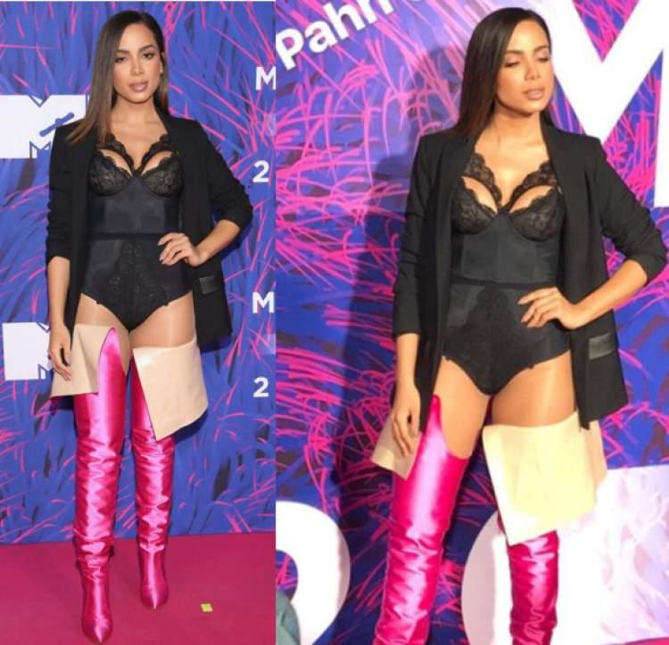 Foto de um dos looks da Anitta que quebraram a Internet