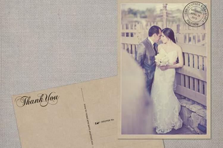 Cartão Postal Personalizado Para Lembrancinha de Casamento