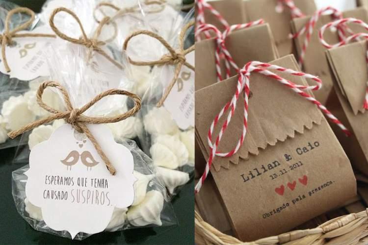 Saquinhos de docinhos com embalagens fofas e personalizadas