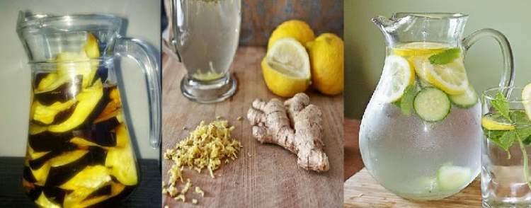 Água aromatizada com limão e gengibre