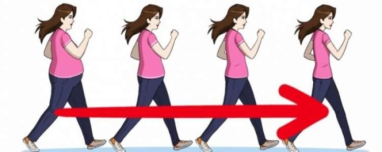 Caminhada ajuda reduzir a barriga