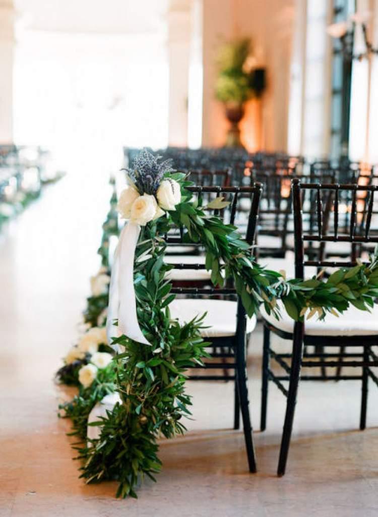 Como decorar uma cerimônia de casamento com folhagens