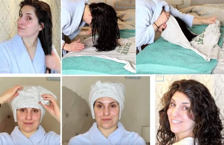 Como usar a camiseta para cachear o cabelo sem danificar os fios