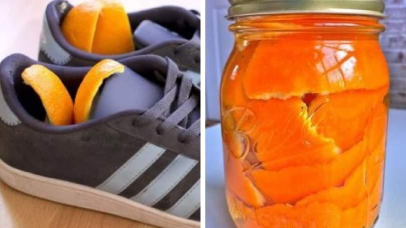 Como usar cascas de laranjas bem secas para acabar com o mau cheiro dos calçados