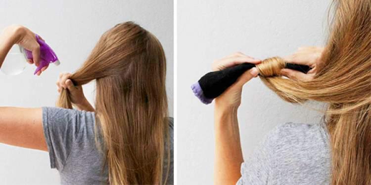 Como usar meias para cachear o cabelo sem danificar os fios